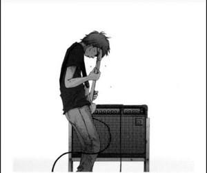 guitar, asano inio, and manga image