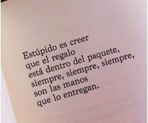 frases, gift, and manos image