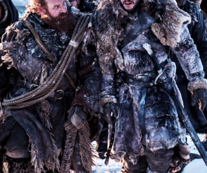 game of thrones, jon snow, and tormund image