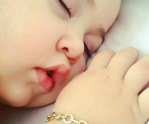 cute, baby, and sleeping baby image