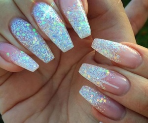 nails, glitter, and tumblr image
