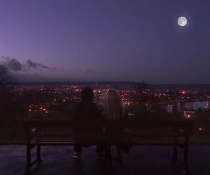 moon, Relationship, and night image