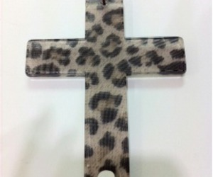 cross, leopard print, and gyaru image