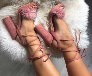beauty, pink, and shoes image
