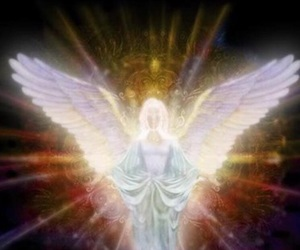 angel, healing, and light image