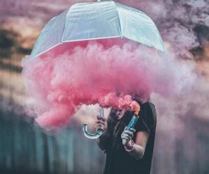pink, smoke, and beautiful image