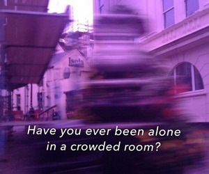 quotes, alone, and purple image