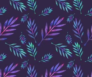 galaxy, leaves, and wallpaper image