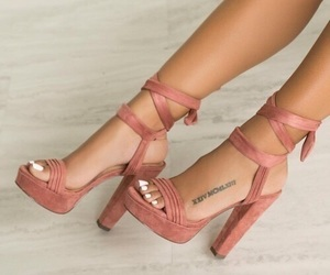 high heels, shoes, and tattoo image
