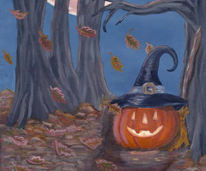 forest, Halloween, and jack o lantern image