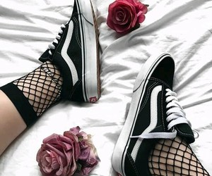 vans, black, and roses image