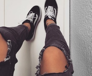 old school, vans, and jeans image
