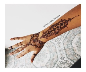 bras, hand, and henna image