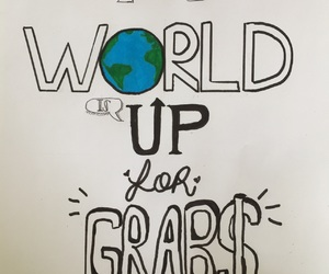 drawing, font, and world image