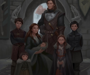 house stark, arya stark, and game of thrones image