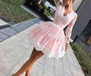 short prom dress, cute homecoming dress, and lace homecoming dresses image