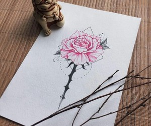 art, flower, and nature image