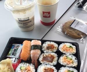 sushi, food, and white image