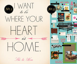 decor, home, and she and him image