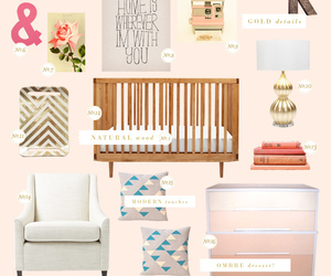 bedroom, girly, and peach image