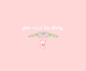 headers, pink, and quotes image
