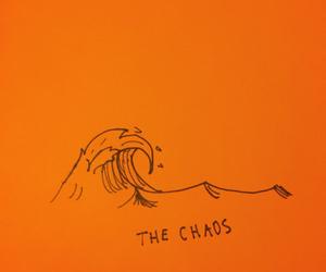 orange, waves, and art image