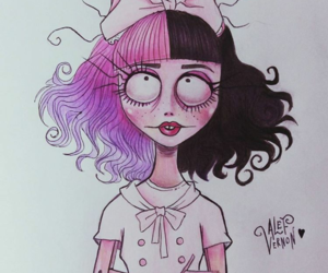 art, drawing, and melanie martinez image