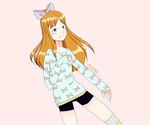 anime, eyes, and girl image