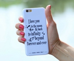forever and ever, I Love You, and to the moon and back image