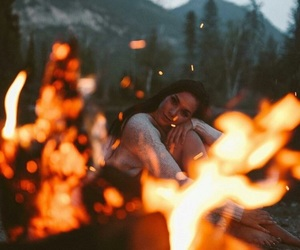 girl, photography, and fire image