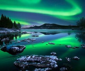 nature, northern lights, and aurora borealis image
