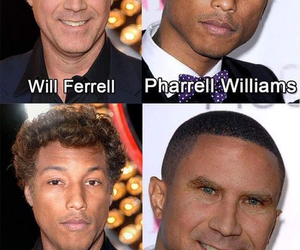 Pharrell Williams, will ferrell, and face swap image