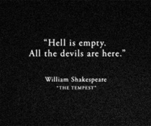Devil, hell, and shakespeare image