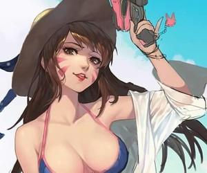 game, anime art, and dva image
