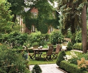 garden and house image