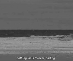 quotes, forever, and black and white image