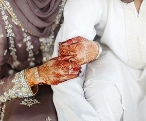 couple, henna, and muslim image