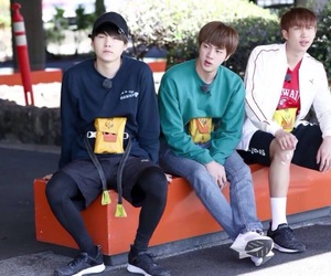 jin, bon voyage, and suga image