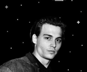 black and white, johnny depp, and pixel image