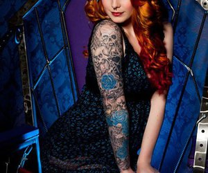tattoo, redhead, and girl image
