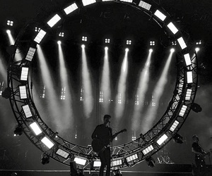 black and white, concert, and light image