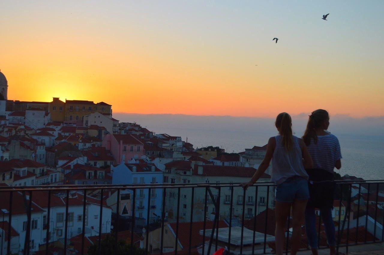 lisbon, photography, and sunrise image