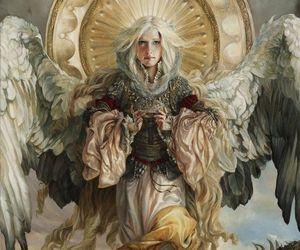 angel, art, and dragon image