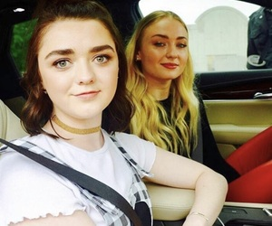 sophie turner, maisie williams, and girl image