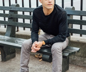 rami malek, actor, and fashion image