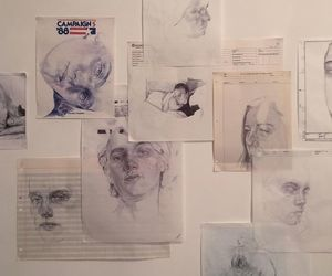art, drawing, and wall image