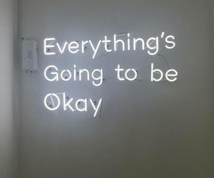 quotes, neon, and okay image