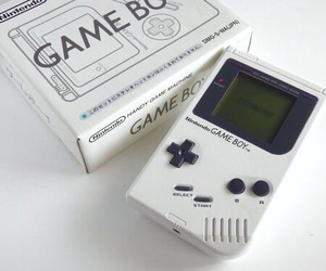 white, game boy, and game image