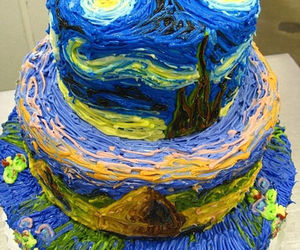 blue, dessert, and sweet image