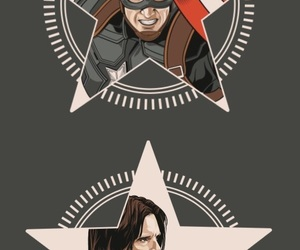 barnes, bucky, and captain america image